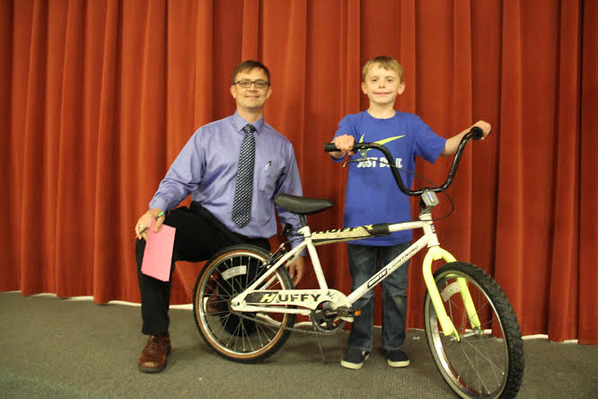 Family Fun Night Bike Winner