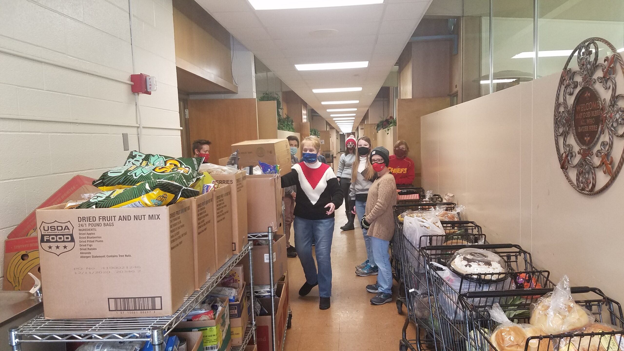 Carol Blackwell And Volunteers Helping On Sunday In Feb